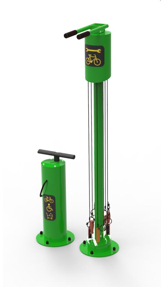 Stacja naprawy rowerów zielona
